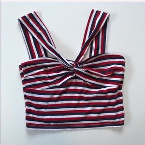 Topshop Tops - Topshop red, white, and blue crop top